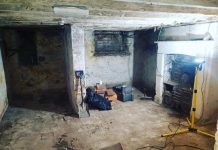 The oven was discovered during renovation works