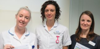 The AAA Screening Team – Jodie Joyner, Rhian Baker and Jessica Smith