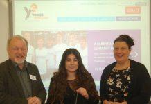 David Graham, YE Shropshire Area Manager with Shanna Kang, YE Business Advisor (centre), and Lisa Kearne, Business Studies Teacher at Newport Girls High School