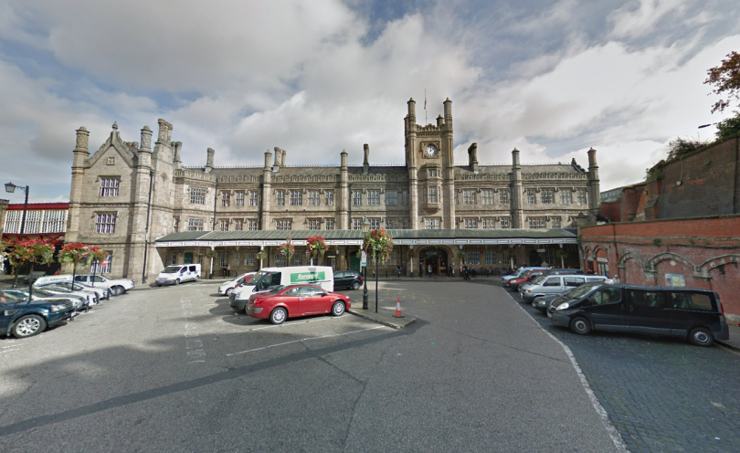 The driver was found to be illegally plying for hire at Shrewsbury railway station.  Photo: Google Street View