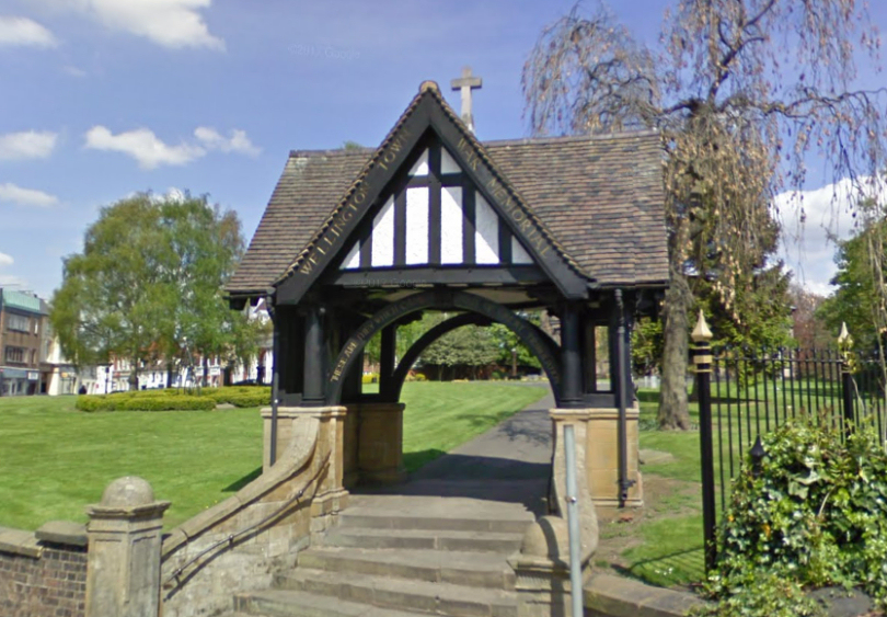 Lych Gate at All Saints Church is Wellington's War Memorial. Photo: Google Street View
