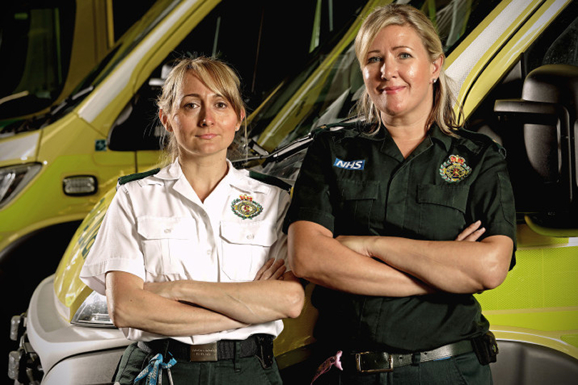 Paramedics Natalie Greaves and Natalie Calow featured in series one. Photo: West Midlands Ambulance Service