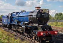 The new addition – GWR King No. 6023 King Edward II, is a real draw for visitors
