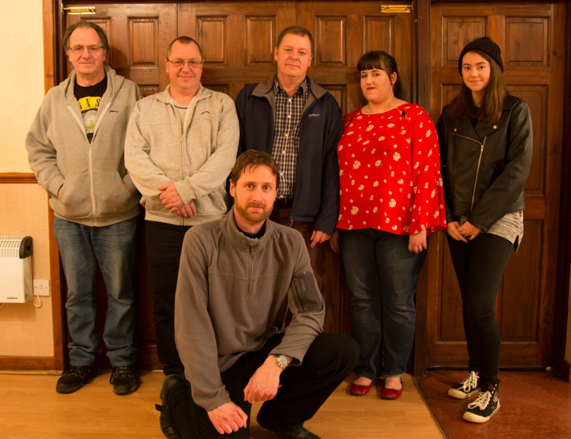 Runners Up, the Marchamley team - Dave Ankers, Steve Evanson, Dominic Spenser, Ian Ankers, Danni Forrester and Sophie Evanson