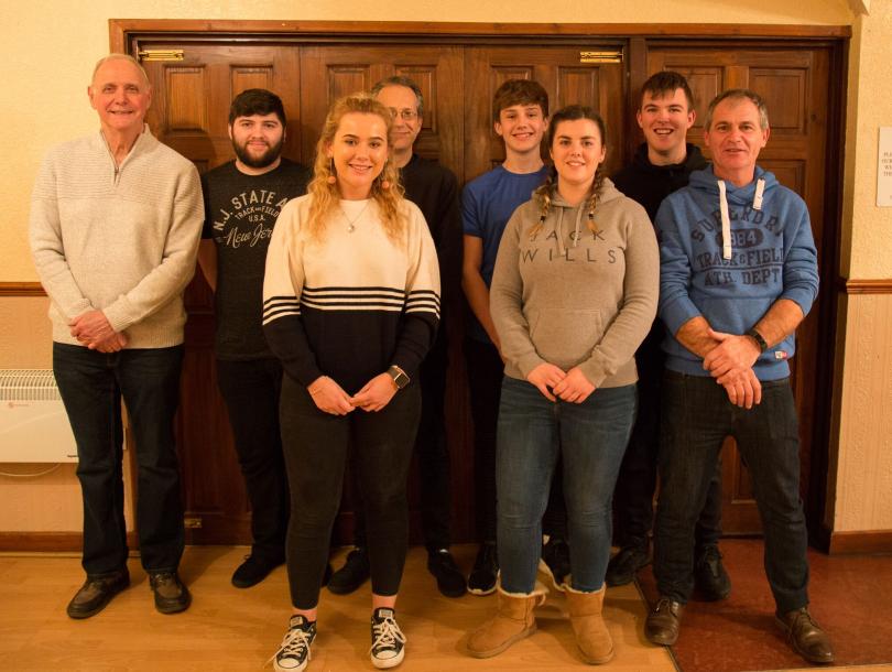 The victorious Unison team - Peter Dallmeier, Corey Waredraper, Lucy Thomas, Dave Thomas, Luke Thomas, Laura Morgan, James Morgan and Colin Morgan