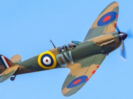 Spitfire, N3200, fought during the Battle of France in 1940. Photo: Darren Harbar