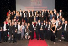 The Morris Site Machinery team pictured with other winners at the Midlands Business Awards