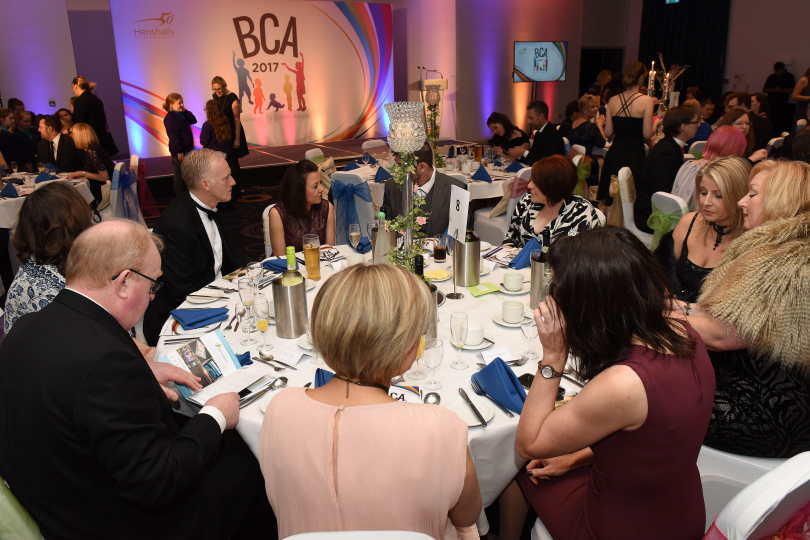 The black tie and gown evening will take place at the Park Inn Hotel, Telford