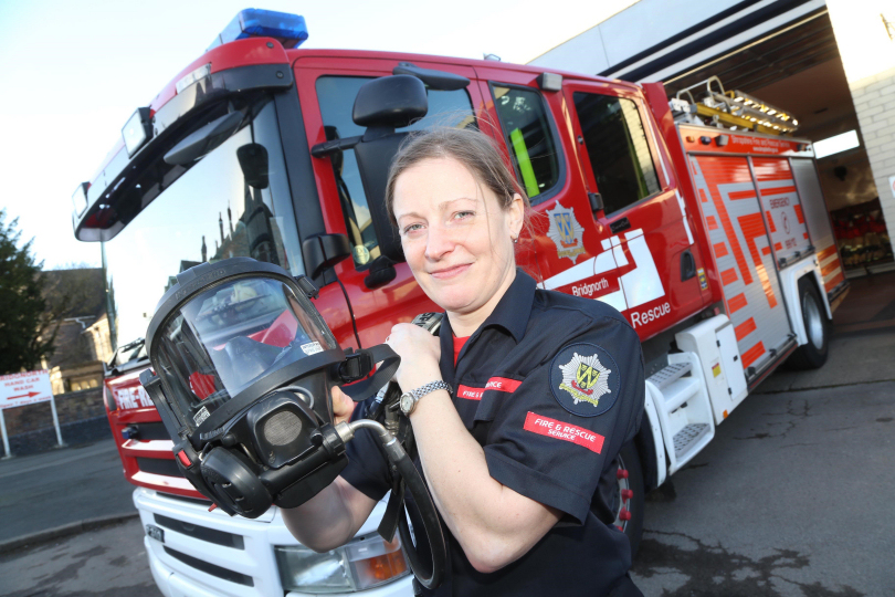 Bridgnorth firefighter Alice Stanley