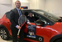 Alvin Ward, the general manager of The Shrewsbury Club, behind the wheel of a Citroen C3 and James Martin, the managing director of Budgen Motors, the new sponsors of the popular $25,000 event