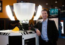 Morris Site Machinery CEO Chris Morris with SL80 Pallet light