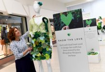 The 'Show the love' climate change campaign, with the Shropshire WI and the Darwin Shopping Centre