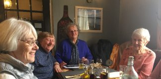 Members enjoyed a delicious lunch at the Red Lion Coaching Inn
