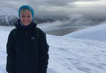 Helen Phillips training in Ireland, the cold, wintry weather delivered some good practice terrain
