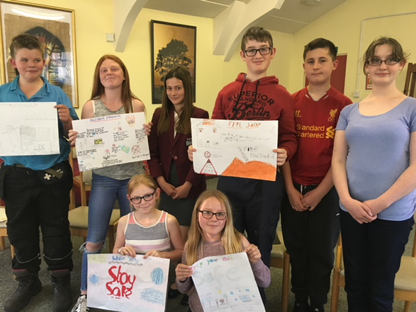 Market Drayton Cadets with safety posters they have designed