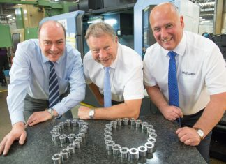 Adam Cunningham, Paul Bethell and Stephen Lock of Muller Holdings who are members of the Manufacturing Assembly Network