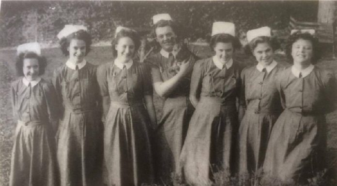 A group of student nurses from Shropshire who studied between 1948 and 1951