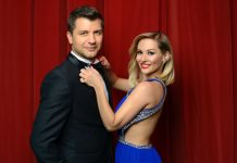Pasha Kovalev with long time dance partner Anya Garnis