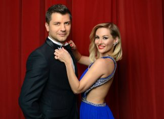 Pasha Kovalev with long time dance partner Anya Garnis
