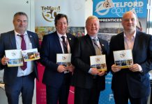 At the launch of 'Be Part of Telford 50' are, from left, Richard Partington of Telford & Wrekin Council, Graham Guest, Paul Hinkins, and Councillor Lee Carter