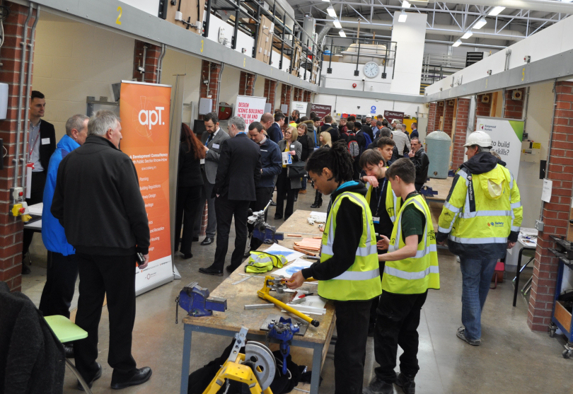 More than 300 job-seekers attended the event at the college's construction centre, in Haybridge Road