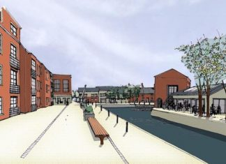 An artist's impression of the planned development at The Wharf