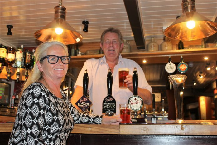 Gill and Tony the new Landlady and Landlord at the Shakespeare Inn