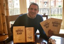 Cedric Bosi with his new book called Supper's Ready