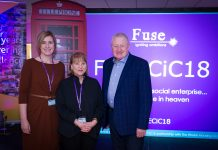 Esther Wright Chair of Fuse CIC; Jean Jarvis MBE MD of Fuse CIC; Stephen Fear of The Fear Group – The Phone Box Millionaire