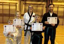 Bridgnorth Tae Kwon-Do instructor Anna Bradford with students