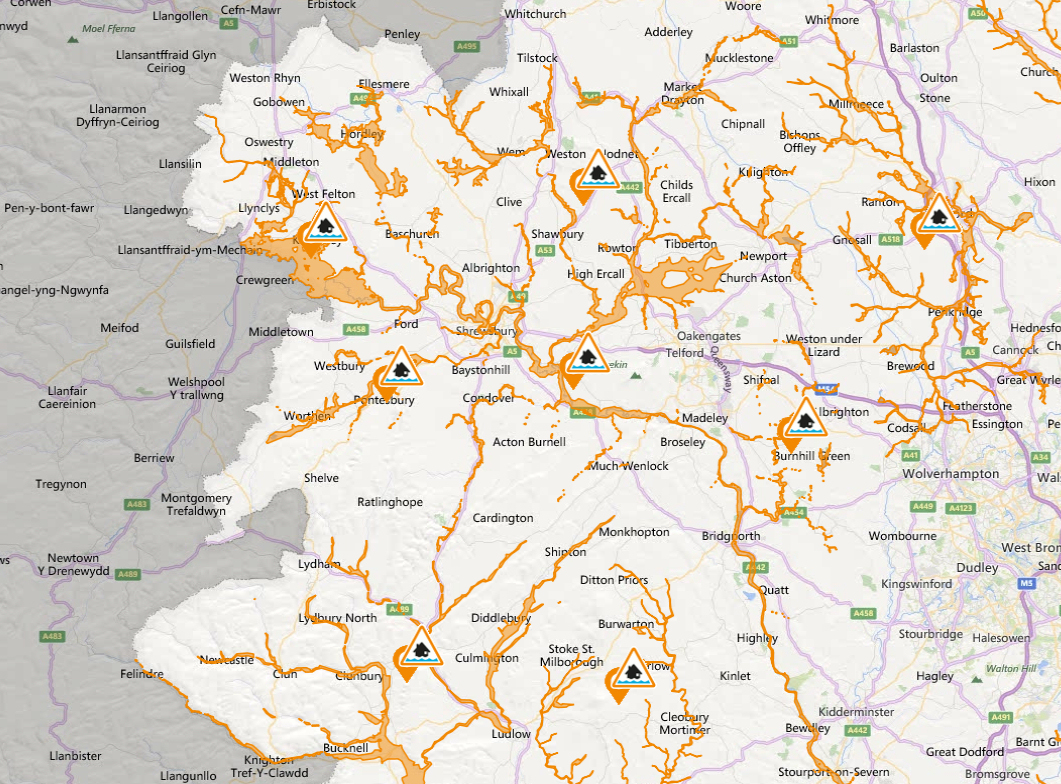 A number of flood alerts have been issued across Shropshire. Image: Environment Agency