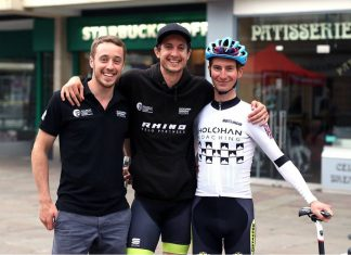 Tom Pook, Chris Pook and Liam Holohan, members of the Rhino Velo Race Team
