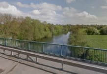 The river was searched in an area near Telford Way in Shrewsbury. Photo: Google Street View