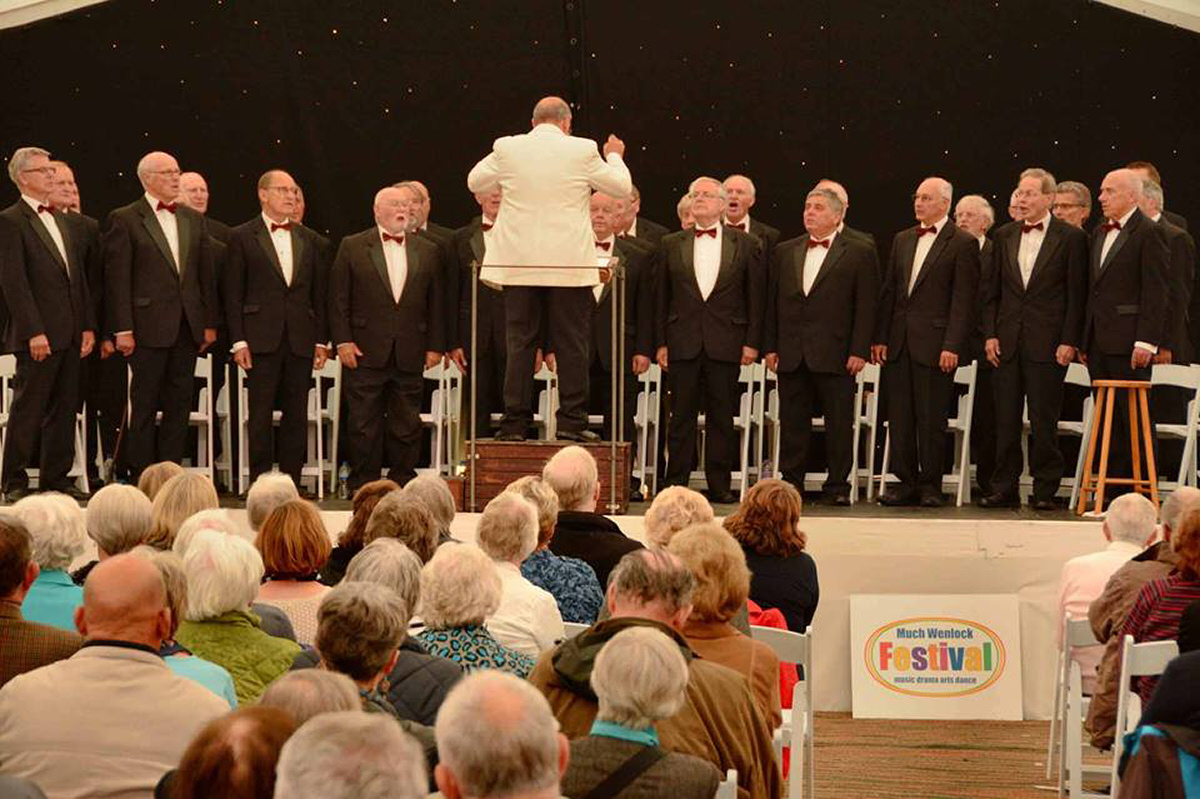 The Much Wenlock male voice choir will return to the festival for 2018