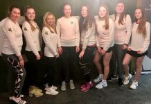 The Shropshire girls team enjoyed home advantage by playing at The Shrewsbury Club, from left: Emilie Gradwell, Erin Beards, Aimee Cooper, Helen Roberts, Rebecca Loxley, Imogen Dudson, Amy Dannatt, Amy Humphries