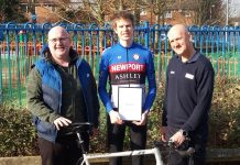 Martin Cantrill from A Better Tomorrow, Ollie Atkin and Nick Yarworth of British Cycling