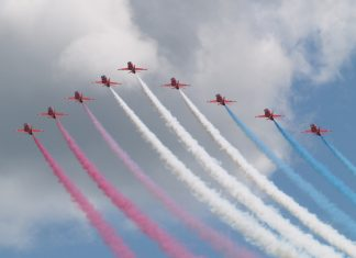 The world famous Red Arrows display team