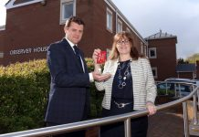 Ben Harrison, Branch Manager at Jelf with Liz Lowe, Head of Estates at Morris Property