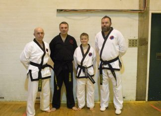 David Parkes, Aubrey Round and Dylan Parkes with instructor Gary Plant