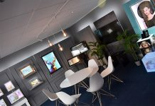The new showroom showcases display and signage product ranges