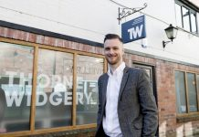 Dan Crowther, Director at Thorne Widgery outside its new office in Ludlow