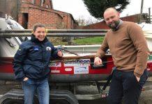 Dave Williams from Henshalls Insurance Brokers with adventurer Kelda Wood