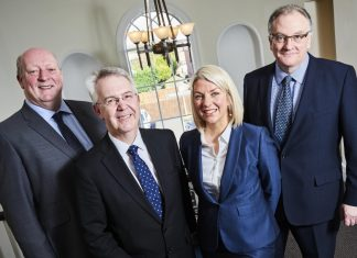James Hayes, Stephen Wyer, Clare Lang and Maynard Burton from mfg Solicitors