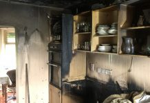 The fire involved the kitchen of the property. Photo: @SFRS_MDrayton