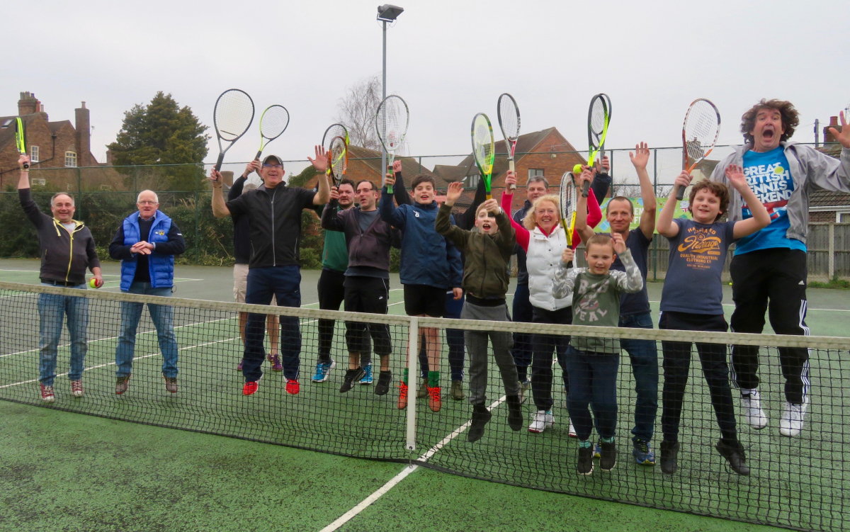 Open day fun at Broseley Tennis Club