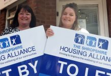 Paula Phillips, left, and Leonie Tetlow from Shropshire Housing Alliance