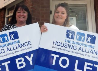 Paula Phillips, left, and Leonie Tetlow from Shropshire Housing Alliance