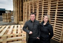 Sarah and Kieron Fleetwood of Shropshire Pallets