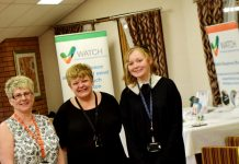 Katrina Pooler, Events Co-Ordinator for Wrekin Retirement Living, Julia Saunders, CVS Carers Centre Telford & Wrekin Council and Lauren Carroll, WATCH Administration Assistant, The Wrekin Housing Trust