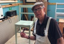 Terry Round in the carpentry workshop at The Furniture Scheme